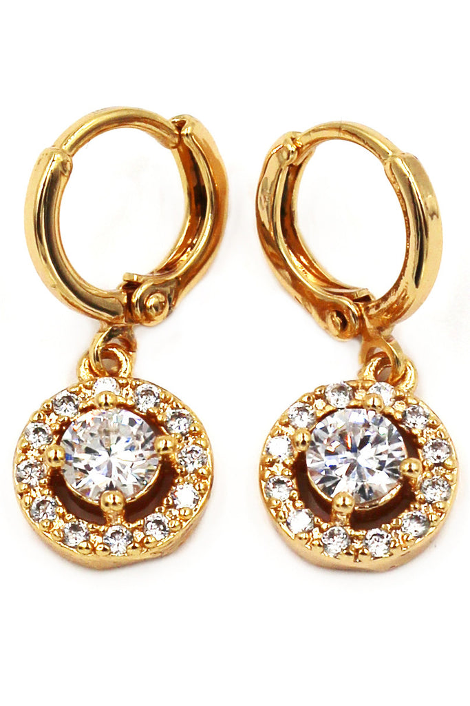 noble gold pendant crystal earring