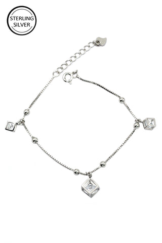 charming key twice silver necklace