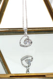 single drill love heart sterling silver necklace