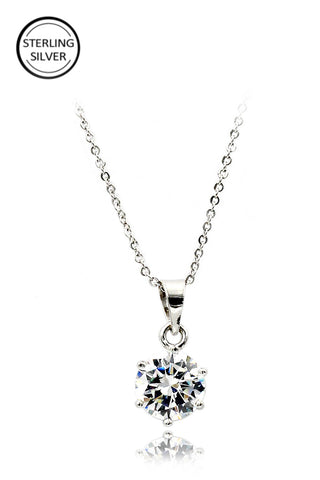 lovely crystal flower necklace