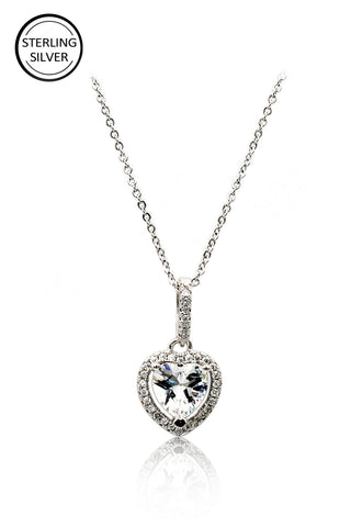 sparkling crystal clavicle necklace