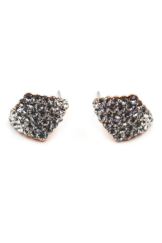 lovely crystal gold earrings