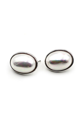 small crystal ball silver stud earrings