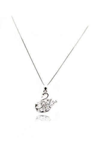 fashion shiny crystal butterfly necklace