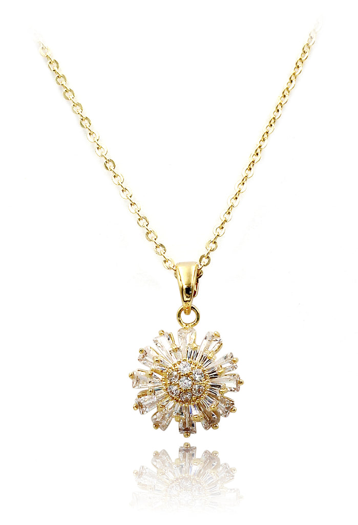 brilliant little sun crystal necklace