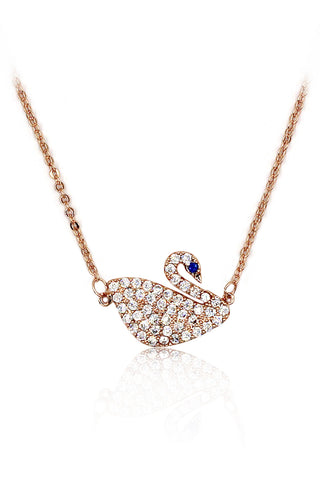 fashion small crystal row necklace