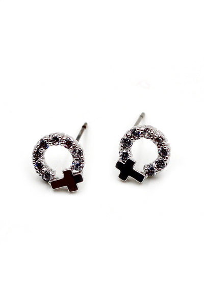 Mini crystal earrings