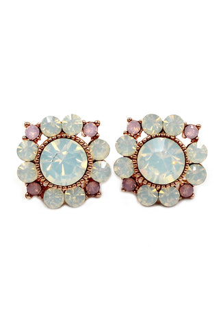 cute daisy crystal earrings