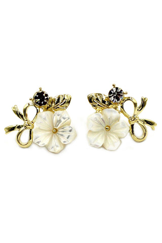 Lovely golden leaves Crystal Earrings