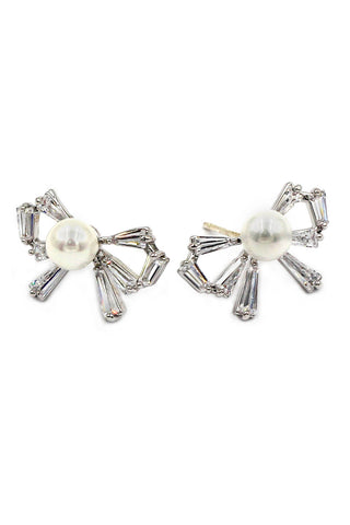 elegant mini wings diamond earrings