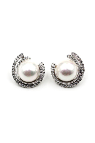 fashion cat eye ball earrings
