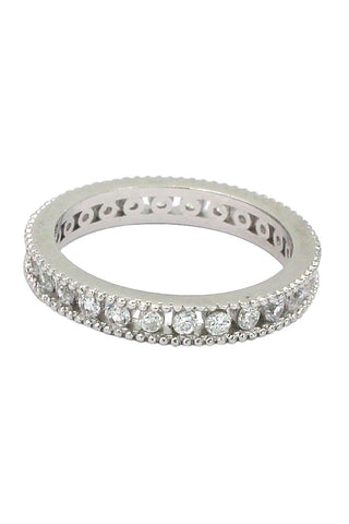 fashion crystal assemble silver ring
