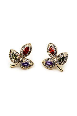 stylish cherry crystal earrings