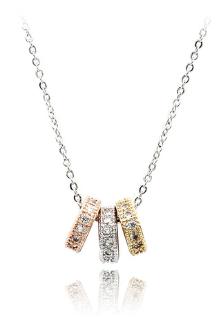 fashion rabbit crystal silver necklace