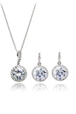 shiny small pendant clavicle chain earring set