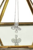 sparkling clover pendant crystal necklace