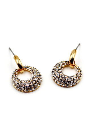 Fashionable Rose Crystal Earrings