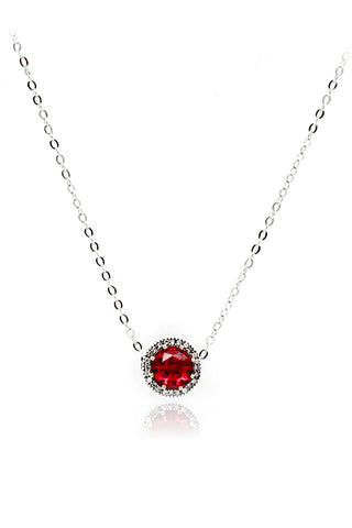 fashion small crystal balls necklace