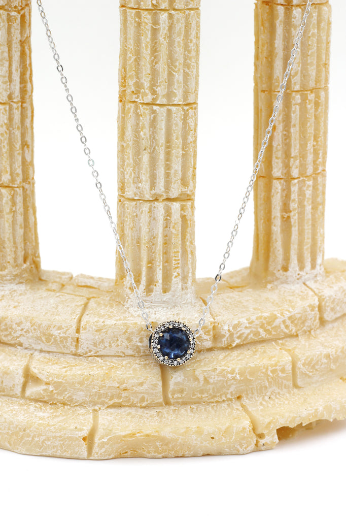 blue fashion crystal ring necklace set