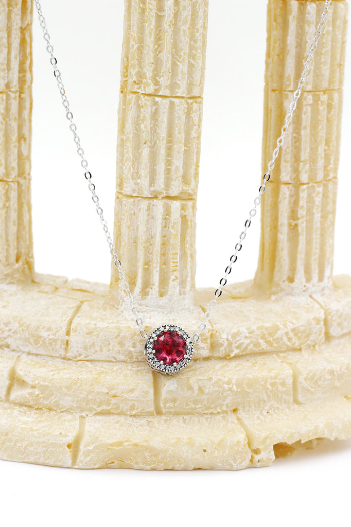 red crystal earrings necklace set