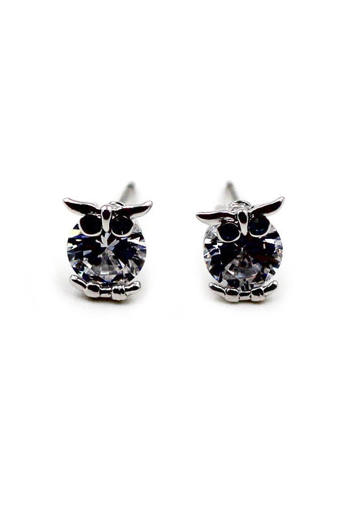 Mini Owl crystal earrings