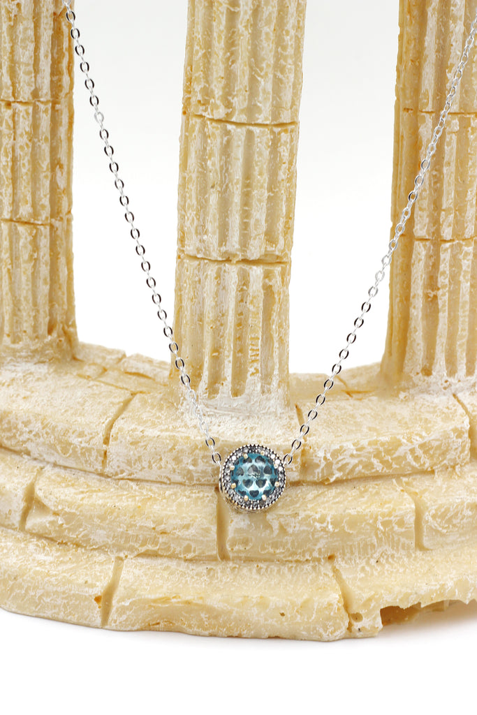 ocean heart crystal necklace