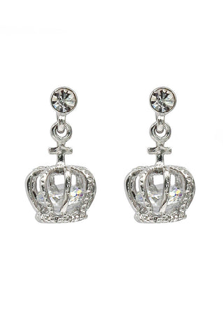 elegant pearl and crystal silver earrings