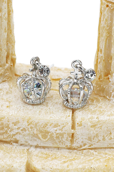 pendant crystal crown earrings