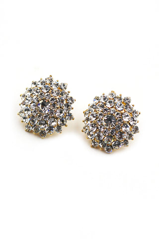 noble crystal gold earrings