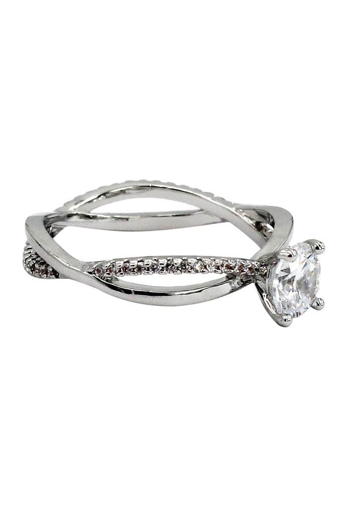 fashion cabinet intersect crystal ring
