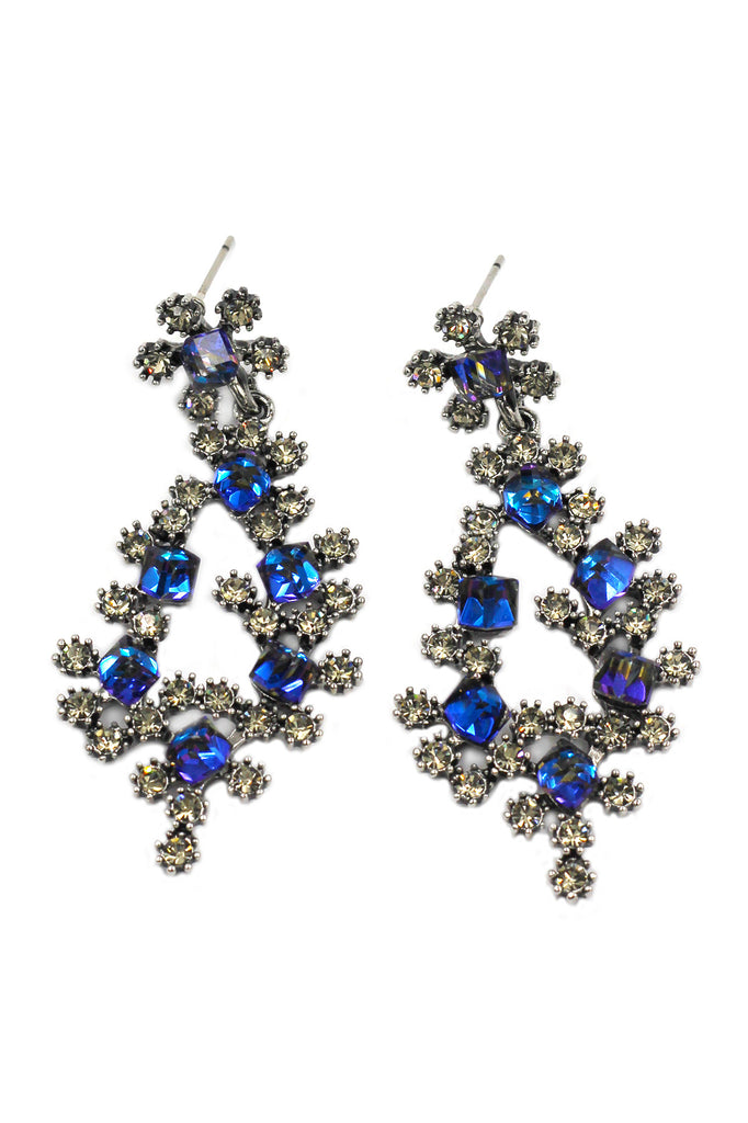 sparkling crystal silver earrings