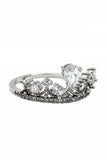 fashion laurel crown crystal ring