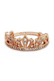 fashion crown micro inlaid ring