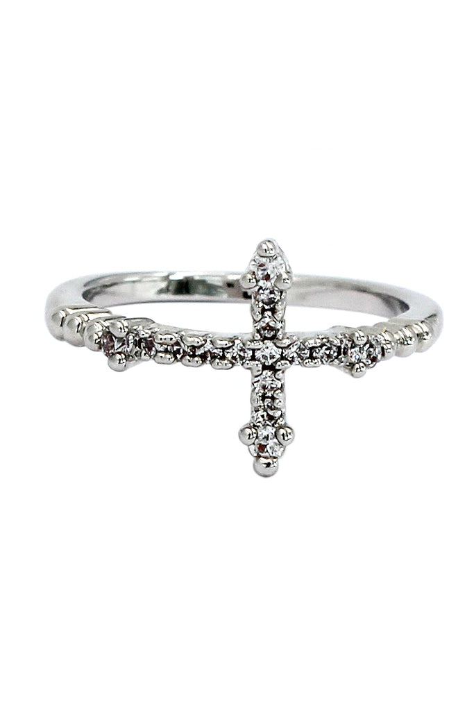 stylish exquisite cross ring