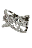 fashion claws small crystal silver ring