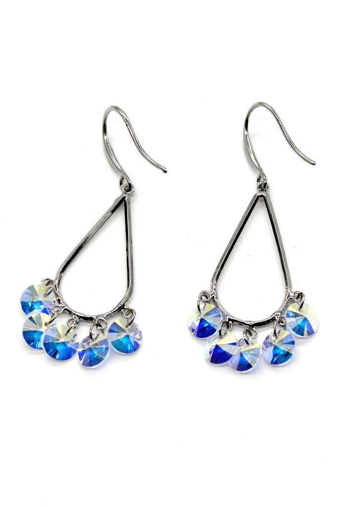sector drop swarovski crystal earrings