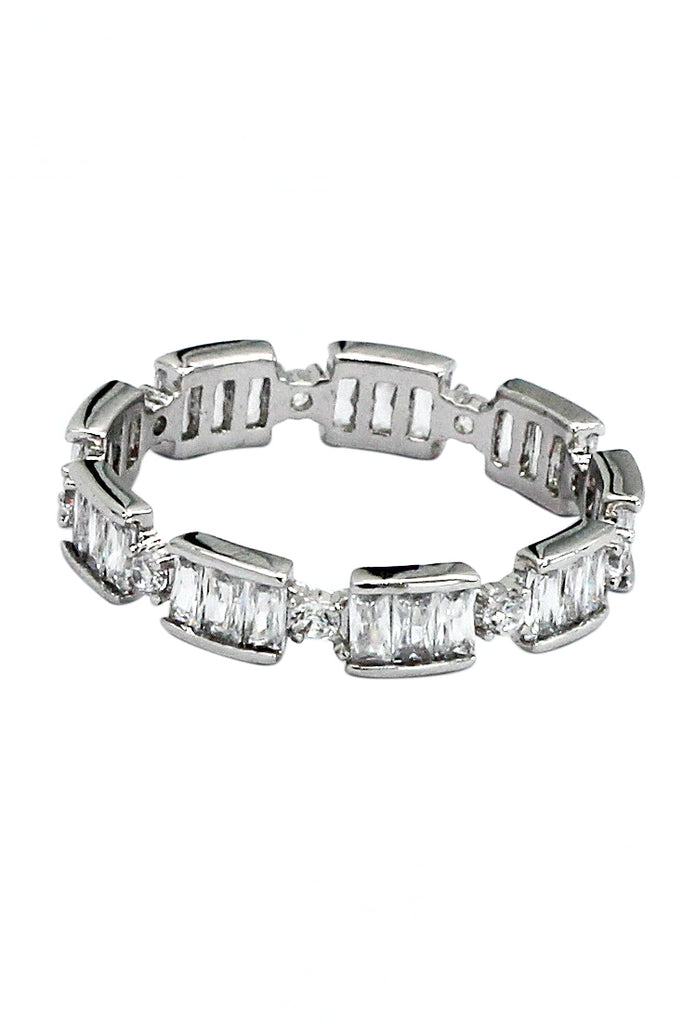 car chain rectangular crystal ring