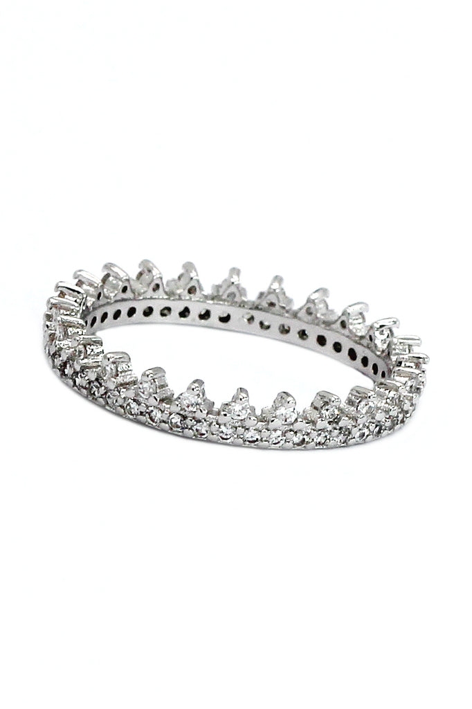 fashionable temperament crystal ring