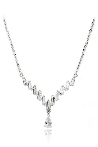mini crystal tree clavicle necklace