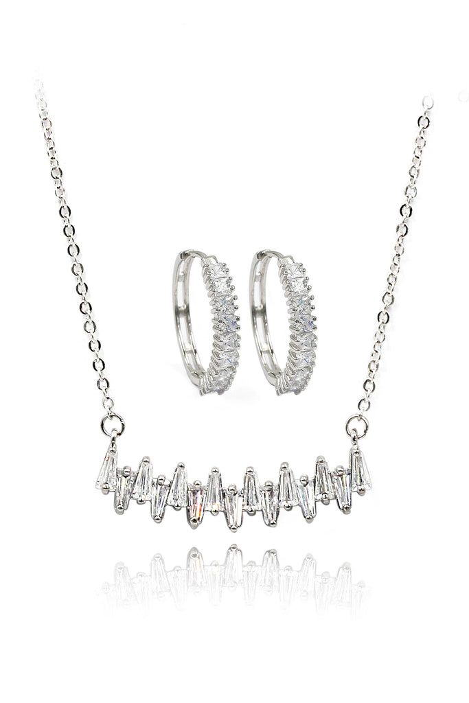 full crystal necklace earring set