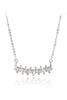 curve crystal silver necklace
