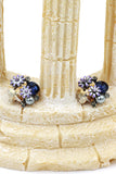 sweet crystal butterfly pearl flower earrings