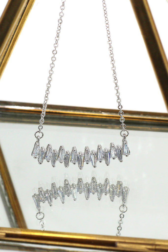 small fresh crystal ring necklace set