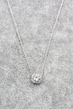 lady silver crystal pendant necklace