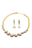 elegant pendant pearl earring necklace set