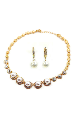 fashion clear crystal gold earrings