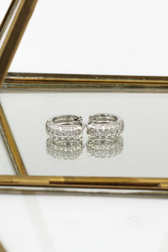 glittering crystal ring earring set