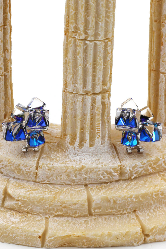 blue square crystal set