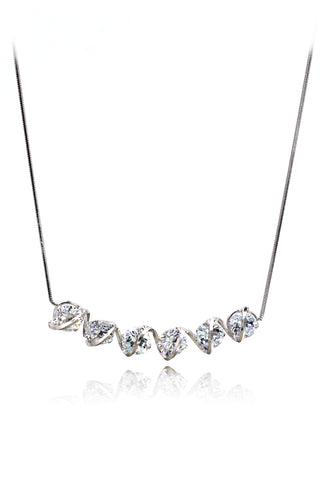 swarovski crystal pendant silver line earrings