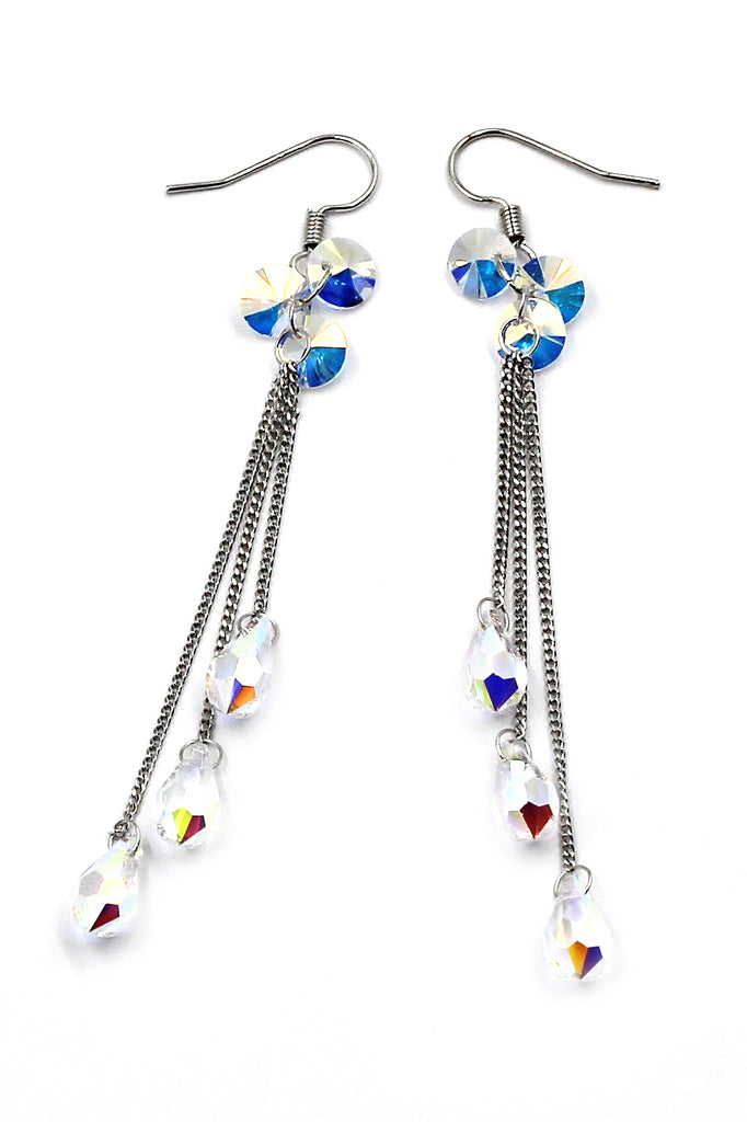 water droplets fringed fashion earrings